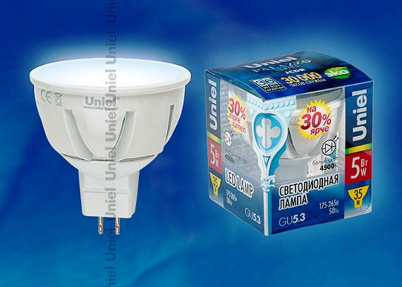 Svetodiodnaia lampa LED-JCDR-5W/NW/GU5.3/FR ALP01WH