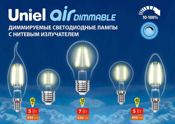 Диммируемые светодиодные лампы с нитевым излучателем